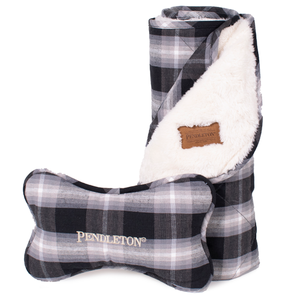 Pendleton Charcoal Ombre Throw and Bone