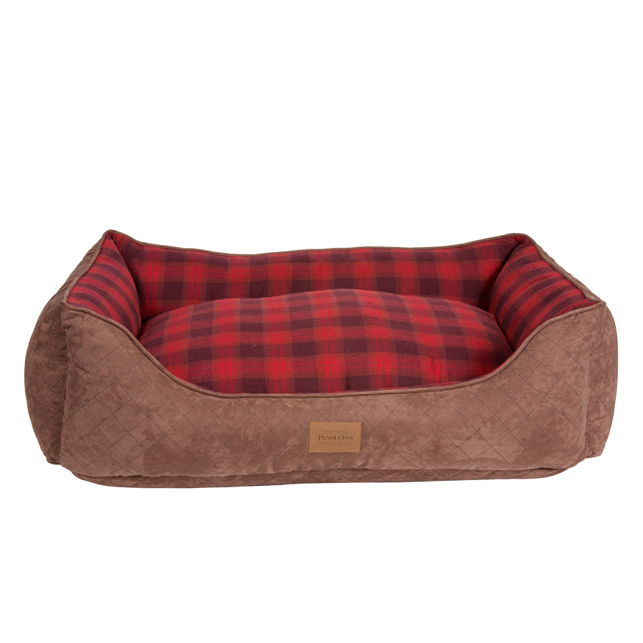 Red Ombre Plaid Kuddler front
