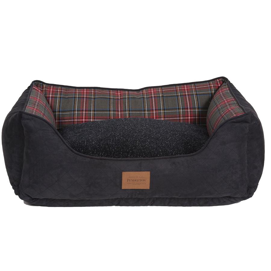 Grey Stewart Tartan kuddler reversible cushion