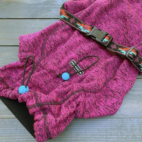 Closeup of pink Wilderdog jacket