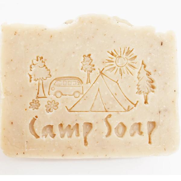 Closeup of Fire Lake camp soap