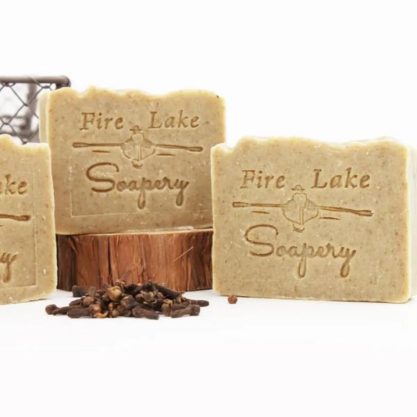 Men's citrus, clove Fire Lake soap